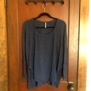 Navy blue Free People sweater.